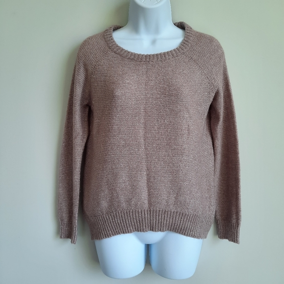 Mossimo Fuzzy Taupe Oversize Sweater - Small